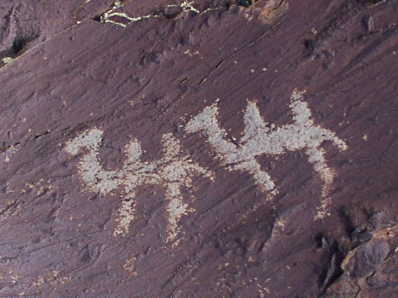 Mongolia, ancient petroglyph rock art, camels