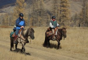 Horseback Riding in Mongolia - Riding Guest speaks
