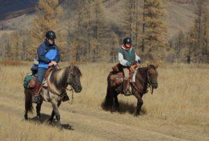 Horseback Riding in Mongolia - Riding Guest speaks